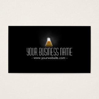 Gold Flask in the Dark Scientific Business Card