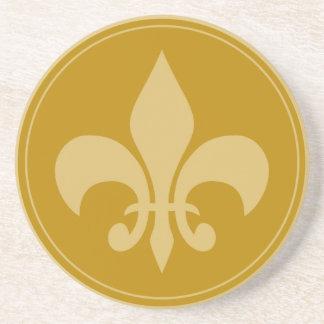 Gold Fleur-De-Lis Coaster