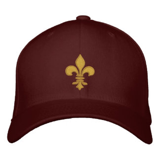 Gold Fleur de lis Embroidered Hat