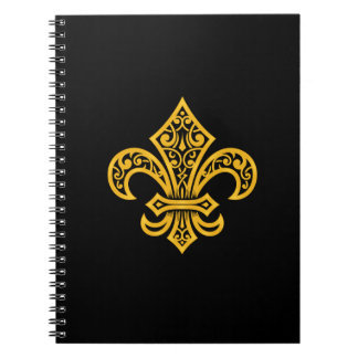 "Gold Fleur de Lis Notebook/Journal (6.5"" x 8.75"") Notebooks"