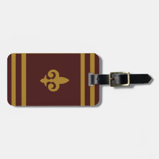 Gold Fleur-de-lis Personalized Luggage Tag