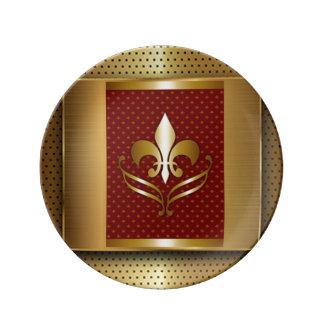 Gold Fleur De Lis Plate