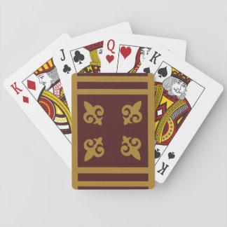 Gold Fleur-de-lis Playing Cards
