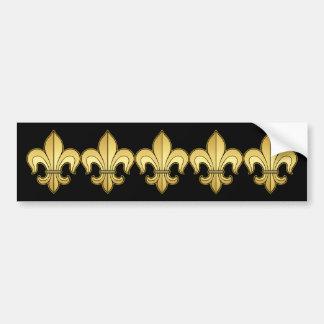 Gold Fleur de lis XXX Dat Bumper Sticker