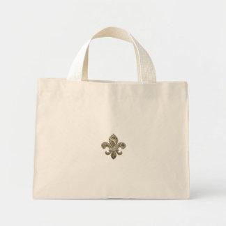 Gold Fleur de Lys Canvas personnalisable Fourre-to Sac En Toile Mini