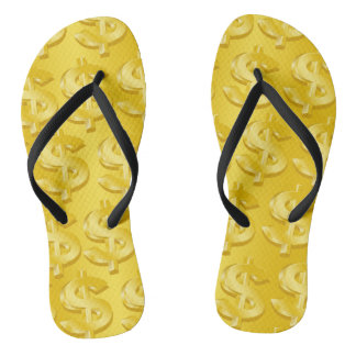 $ Gold $ Flip Flops