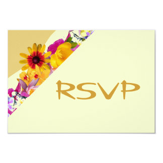 Gold floral canopy RSVP Card