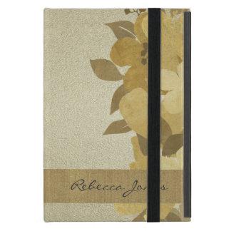 Gold Floral Glam Monogram iPad Case