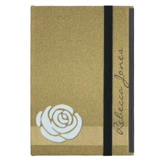 Gold Floral Glamour Monogram iPad Case