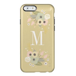 Gold Floral Monogrammed Phone Case Incipio Feather® Shine iPhone 6 Case