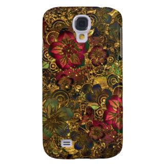 Gold floral pattern case
