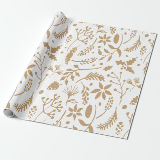 Gold Floral Wrapping Paper