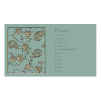 Gold Flourish Mother's Day Business Card