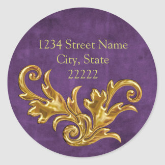 Gold Flourishes Return Address Envelope Seal