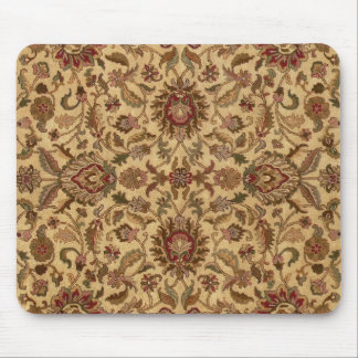 Gold Flowers Arabesque oriental tapastery Mouse Pad