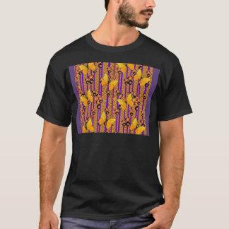 GOLD FLUTTERING BUTTERFLIES PURPLE ART COLOR T-Shirt