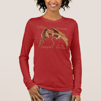 Gold Flying Dragon with words Long Sleeve T-Shirt