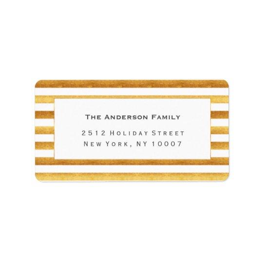 Gold foil address label