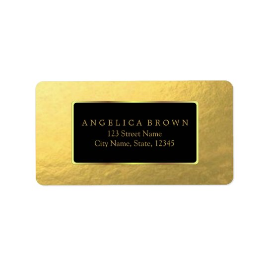 Gold Foil Address Label