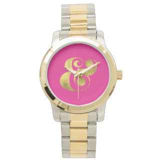 Gold Foil Ampersand Wristwatch