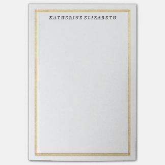 Gold Foil Art Deco Border Personalized Note Pad