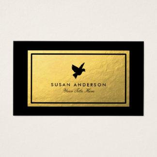 Gold Foil Black Bird Business Card