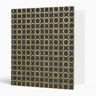 Gold Foil Black Polka Dots Pattern Binder