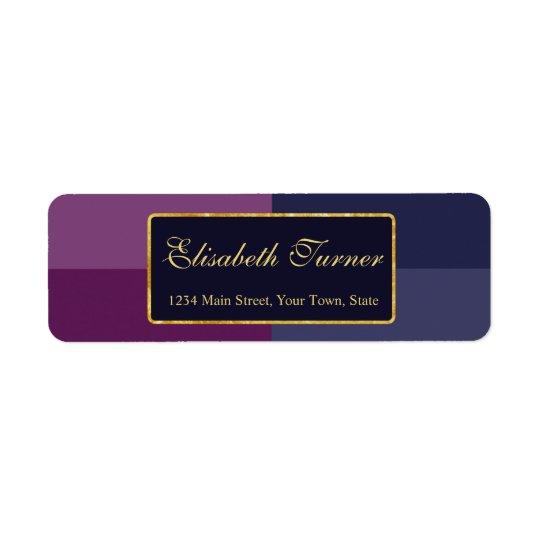 Gold Foil Bold Lavender Palette Wedding Custom