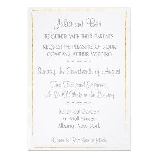 Gold Foil Border Wedding Invitation