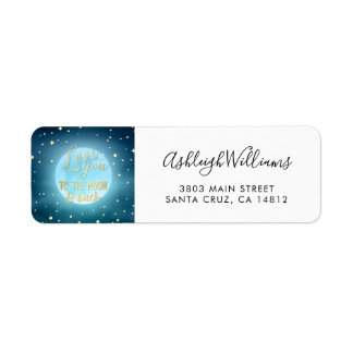 Gold Foil Calligraphy Starry Night Sky Wedding