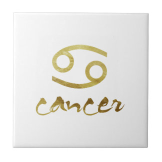 Gold Foil Cancer Symbol Tile