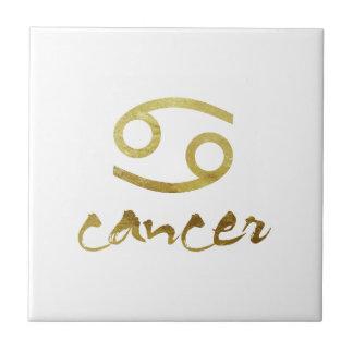 Gold Foil Cancer Symbol Tiles