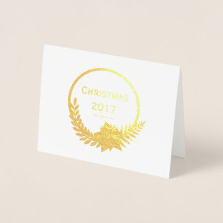 Gold Foil Christmas Note Card