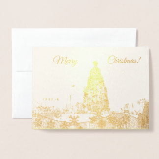 Gold Foil Christmas Tree Card