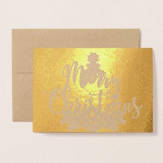 Gold Foil Christmas Tree Photo Card