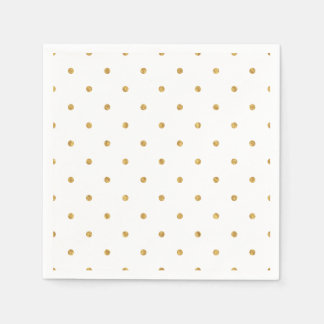 Gold Foil Dots Metallic Hostess Entertaining Party Paper Napkin