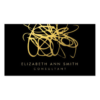 Gold Foil Effect Chic Business Card