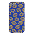 Gold Foil Effect Kiss iPhone Case