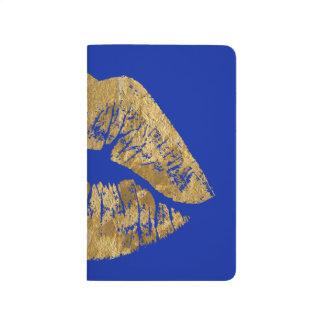 Gold Foil Effect Kiss Pocket Journal