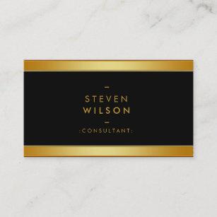 Financial services business cards profile cards zazzle ca gold foil elegant retro financial services business card colourmoves