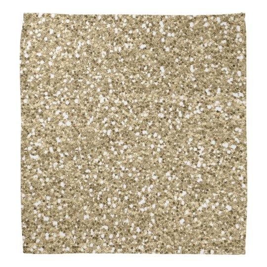 Gold Foil Faux  Glitter Bandannas