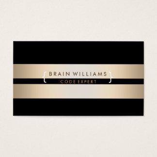 Gold Foil Faux Web Computer Professional Elegant Business Card