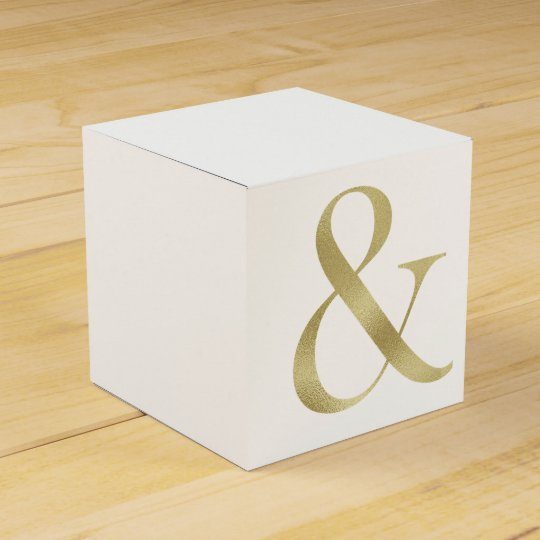 Gold foil favour box