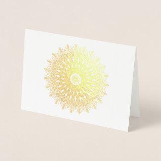 Gold foil filigree kaleidoscope fantasy foil card