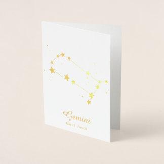 Gold Foil GEMINI Zodiac Sign Constellation Foil Card