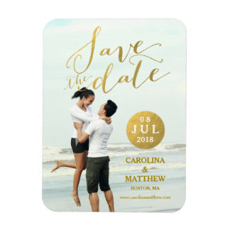 Browse through Zazzle's wedding save the date ideas, including these save the date magnets!