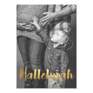Gold Foil Hallelujah Christmas Holiday Photo Card
