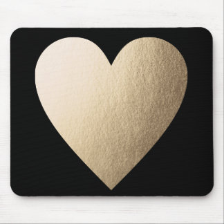 Gold Foil Heart Mousepad