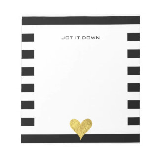 Gold Foil Heart Notepad