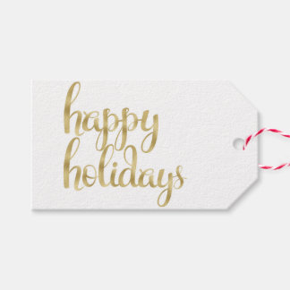 Gold foil holiday gift tags pack of gift tags